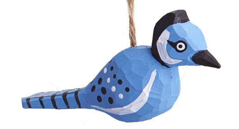 Елочная игрушка Blue Bird Ornament, Crate and Barrel, магазин Crate and Barrel