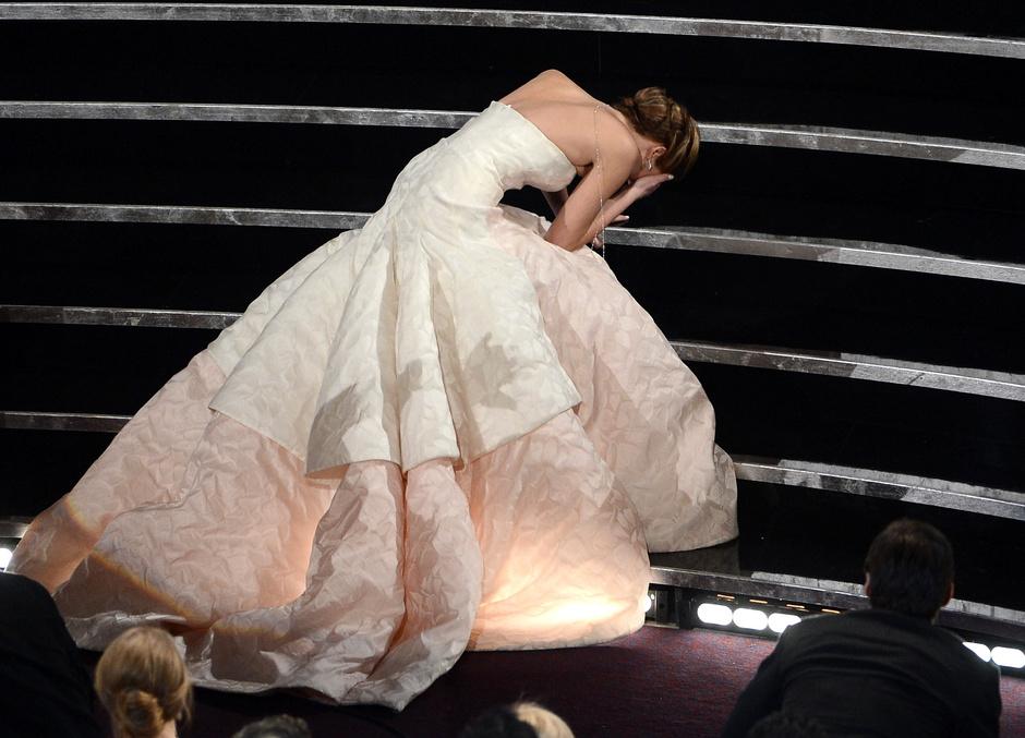 "Дженнифер Лоуренс на ""Оскаре""-2013"