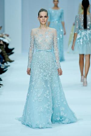 Показ Elie Saab коллекции сезона Весна-лето 2012 года haute couture - www.elle.ru - Подиум - фото 332671