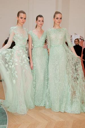 Показ Elie Saab коллекции сезона Весна-лето 2012 года haute couture - www.elle.ru - Подиум - фото 333003