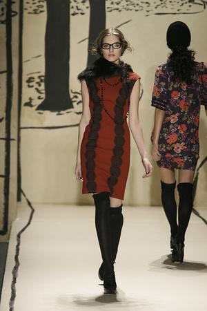 Показ Tracy Reese коллекции сезона Осень-зима 2009-2010 года Prêt-à-porter - www.elle.ru - Подиум - фото 91985