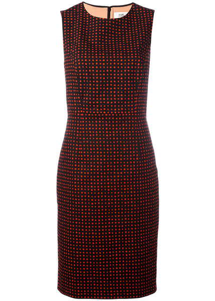 Красное платье в горошек 2017