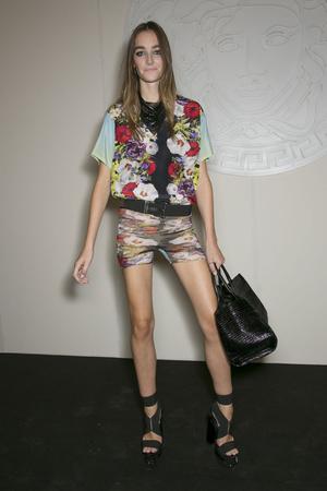 Показ Versace коллекции сезона Весна-лето 2014 года Prêt-à-porter - www.elle.ru - Подиум - фото 564942