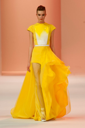 Показ Stephane Rolland коллекции сезона Весна-лето 2014 года Haute couture - www.elle.ru - Подиум - фото 575033