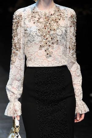 Показ Dolce & Gabbana коллекции сезона Осень-зима 2012-2013 года Prêt-à-porter - www.elle.ru - Подиум - фото 368222