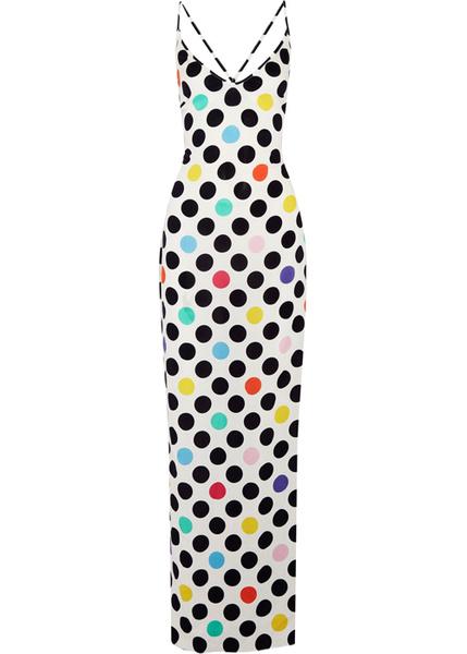 Цветные платья в горошек 2017
