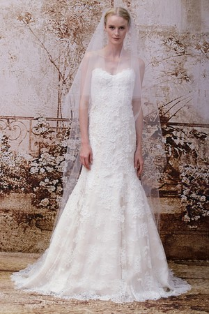 Показ Monique Lhuillier коллекции сезона Осень 2014 года Bridal - www.elle.ru - Подиум - фото 575593