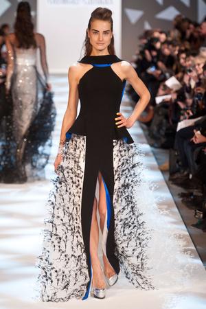 Показ Georges Chakra коллекции сезона Весна-лето 2013 года Haute couture - www.elle.ru - Подиум - фото 480699