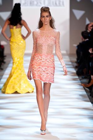 Показ Georges Chakra коллекции сезона Весна-лето 2013 года haute couture - www.elle.ru - Подиум - фото 480702