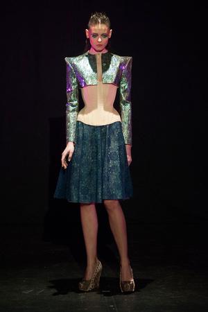 Показ Serkan Cura коллекции сезона Весна-лето 2014 года haute couture - www.elle.ru - Подиум - фото 575330