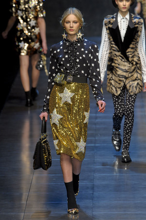 Показ Dolce & Gabbana коллекции сезона Осень-зима 2011-2012 года prêt-à-porter - www.elle.ru - Подиум - фото 246926