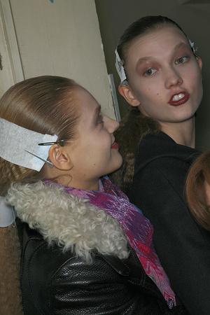 Показ Givenchy коллекции сезона Осень-зима 2009-2010 года prêt-à-porter - www.elle.ru - Подиум - фото 98439