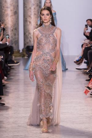 Показ Elie Saab коллекции сезона Весна-лето  2017 года Haute couture - www.elle.ru - Подиум - фото 616593