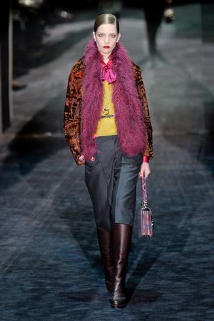 Показ Gucci коллекции сезона Осень-зима 2011-2012 года Prêt-à-porter - www.elle.ru - Подиум - фото 242742