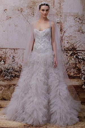 Показ Monique Lhuillier коллекции сезона Осень 2014 года Bridal - www.elle.ru - Подиум - фото 575596