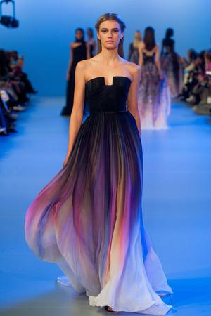 Показ Elie Saab коллекции сезона Весна-лето 2014 года Haute couture - www.elle.ru - Подиум - фото 575146