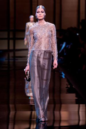 Показ Giorgio Armani Privé коллекции сезона Весна-лето 2014 года Haute couture - www.elle.ru - Подиум - фото 574945