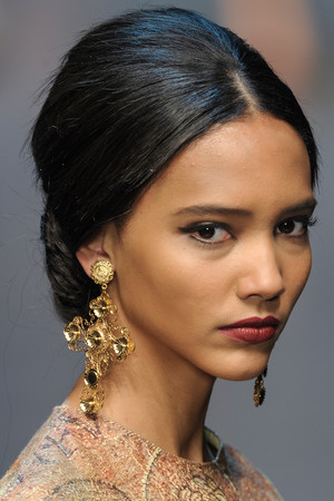 Показ Dolce & Gabbana коллекции сезона Осень-зима 2013-2014 года Prêt-à-porter - www.elle.ru - Подиум - фото 529741