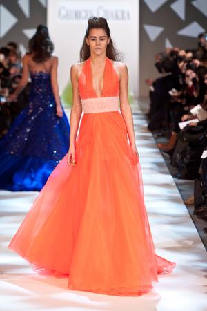 Показ Georges Chakra коллекции сезона Весна-лето 2013 года Haute couture - www.elle.ru - Подиум - фото 480703