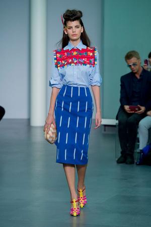 Показ Stella Jean коллекции сезона Весна-лето  2016 года prêt-à-porter - www.elle.ru - Подиум - фото 600848
