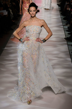 Показ Georges Chakra коллекции сезона Весна-лето 2015 года Haute couture - www.elle.ru - Подиум - фото 593387