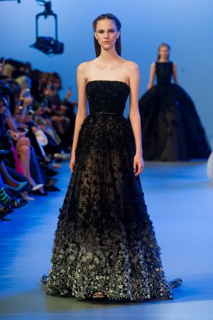 Показ Elie Saab коллекции сезона Весна-лето 2014 года Haute couture - www.elle.ru - Подиум - фото 575150