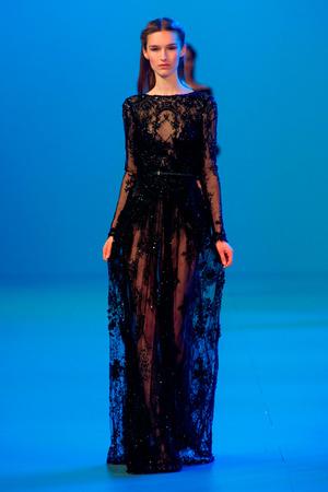 Показ Elie Saab коллекции сезона Весна-лето 2014 года Haute couture - www.elle.ru - Подиум - фото 575155